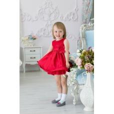 "Платье ""Красная роза"", 10 - 18 месяцев"