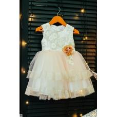 """Платье """"Персик"""", от 1 года до 6 лет"""