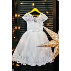 """Белое платье """"Снежинка"""",  4-7 лет"""
