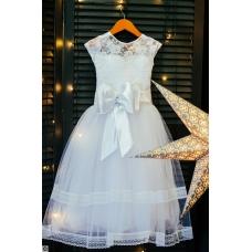 """Белое платье """"Леди"""", 4-6 лет"""