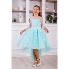 Платье Звездочка со шлейфом