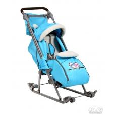 Санки-коляска с 4мя колесами Geburt